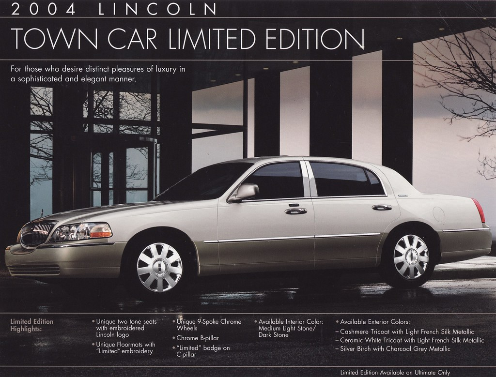 2004 Lincoln Town Car Limited Edition Brochure Usa Flickr
