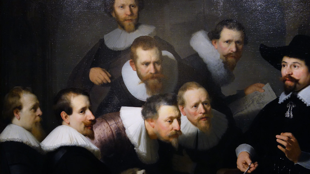 Rembrandt, The Anatomy Lesson of Dr. Tulp, detail with por… | Flickr