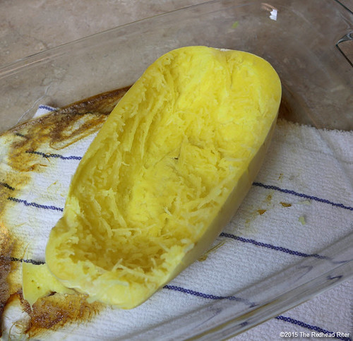 Cook Spaghetti Squash in the Oven  (13) | by The Redhead Riter / Sherry Riter