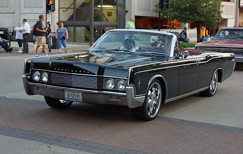 1966 Lincoln Continental 4 Door Convertible Photographed