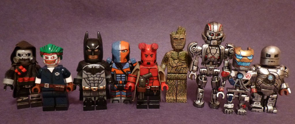 Custom Lego Marvel and DC Minifigures Group-shot   Here is a…   Flickr