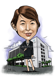 digital caricature for Ministry of Manpower (watermared) | by jit@portraitworkshop.com