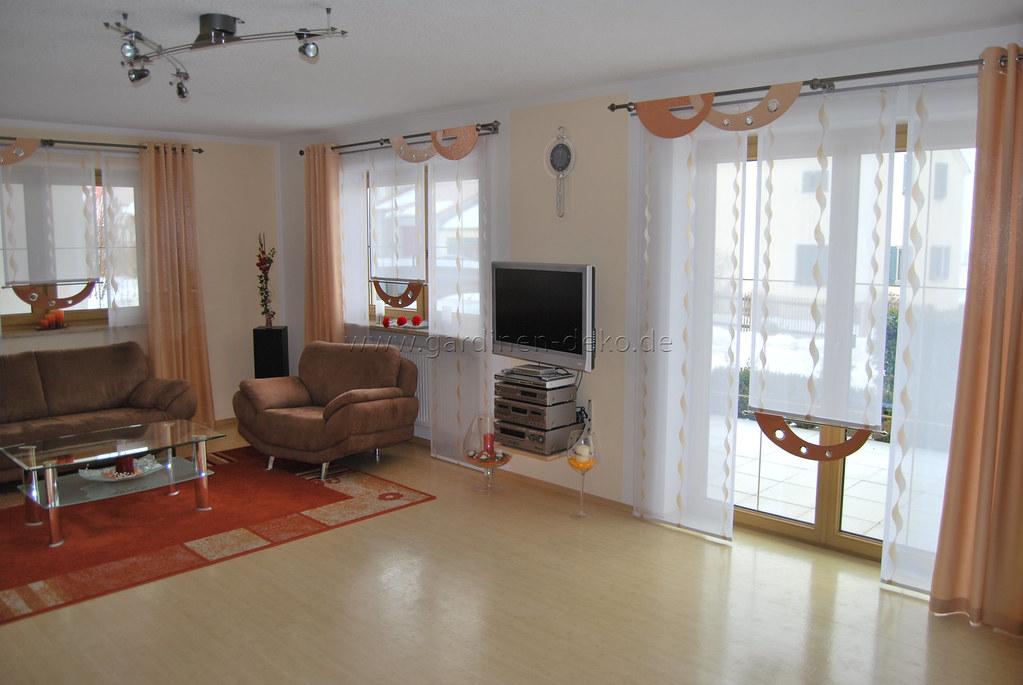 Stufen Gardine fürs Wohnzimmer mit Designer Bögen und Ösen… | Flickr