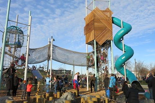 Margaret Mahy Playground - new slide and towers