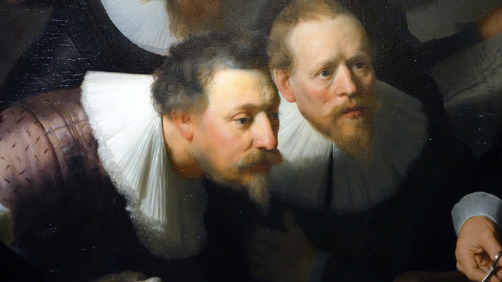 Rembrandt, The Anatomy Lesson of Dr. Tulp, detail with two… | Flickr