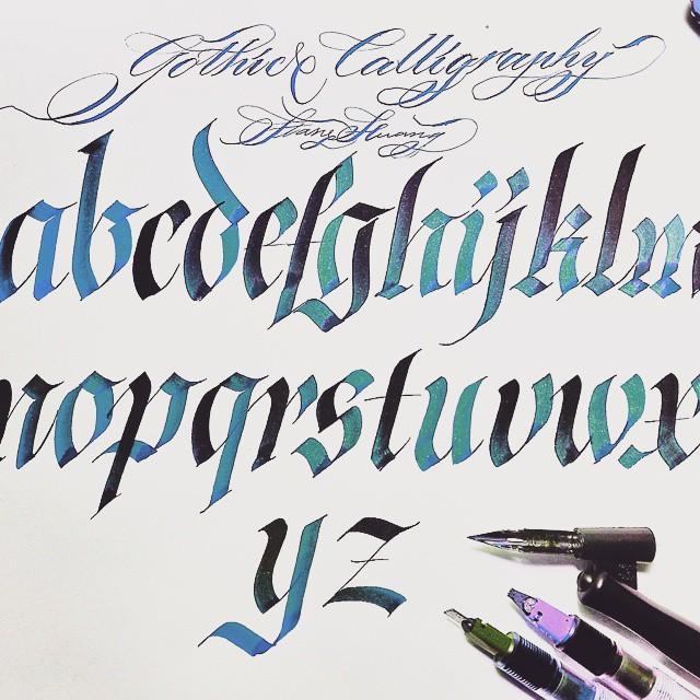 My Calligraphy Practice AZ Art I