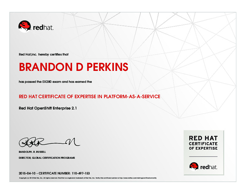 RED HAT CERTIFICATE OF EXPERTISE IN PLATFORM-AS-A-SERVICE | Flickr