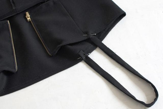 DIY Black cut out dress overhaul