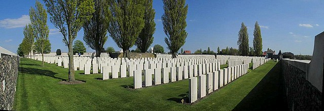 Tyne Cot Cemetery from North-west Corner