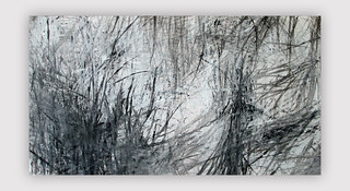 "Series ""Am See"" (Fennsee)  Mixed media on paper 157 x 90 cm Berlin 2014 