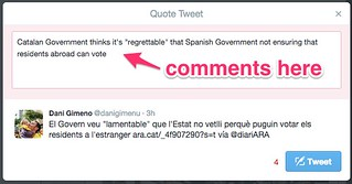 Add comments when retweeting | by Liz Castro