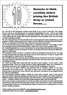 British Army recruitment fair (2) | by INNATE - Nonviolence Network in Ireland