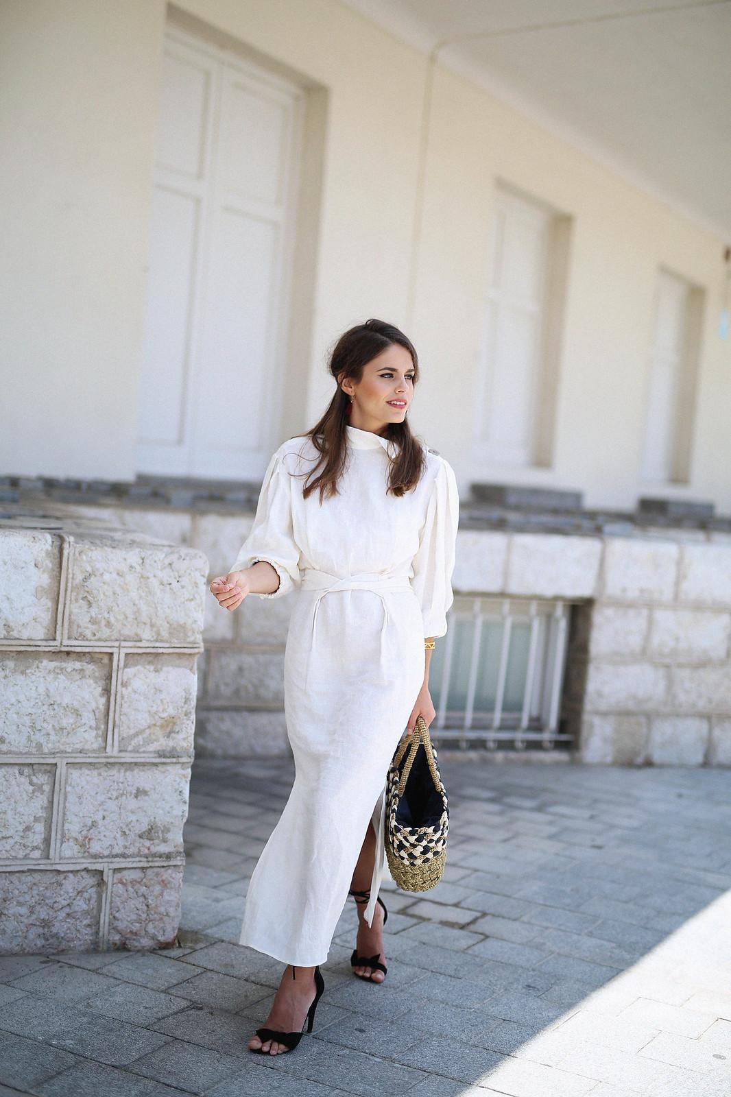 jessie chanes seams for a desire zara vestido lino capazo rafia-12