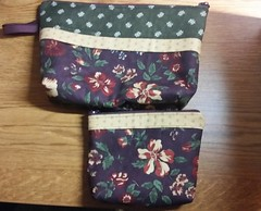 Tonight's Becca Bags! So fast, fun, and easy.  They are a great stash buster. I'll be teaching a class on them in November if you're interested.