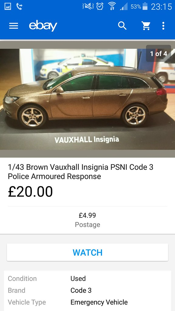1 43 Brown Vauxhall Insignia Unmarked Armoured Psni Police Flickr
