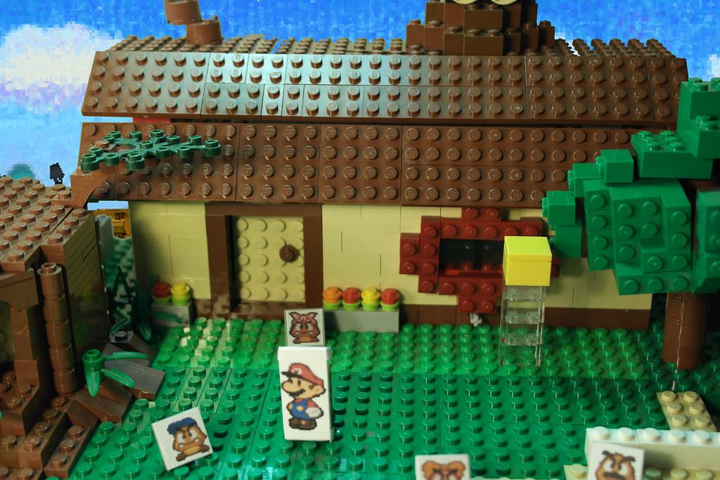 Lego Paper Mario 64 Goomba village MOC | The Goomba village … | Flickr