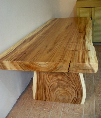 Solid Wood Slab Dining Table Natural Hardwood Table Also