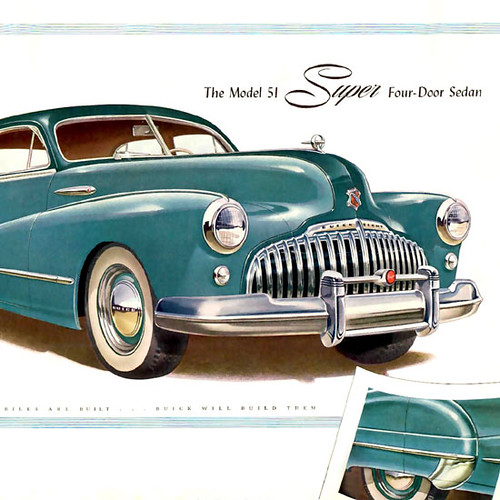 1949 Buick Super Custom Review: Buick Eight Model 51 Super 4 Door Sedan 1946