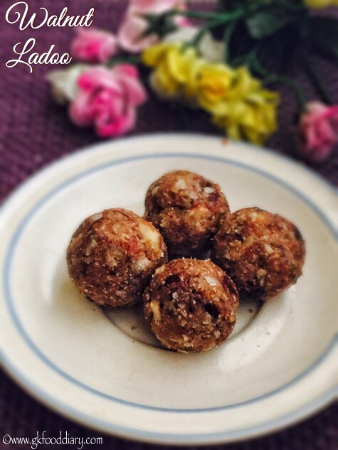 Walnut Ladoo Recipe For Babies, Toddlers and Kids - 4