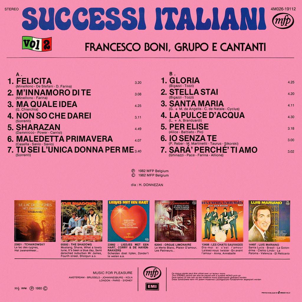 Francesco Boni - Successi Italiani 2