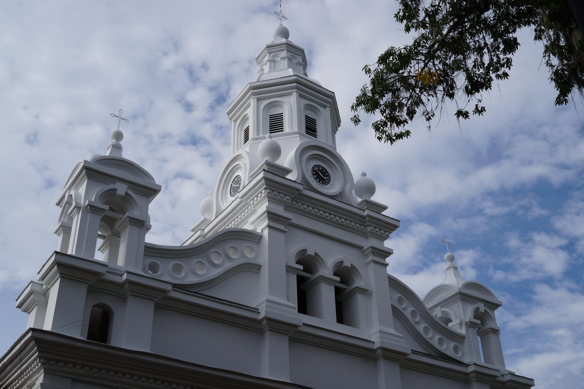 Imagen de la iglesia de Salamina, Caldas parte del Arte Religioso del Paisaje Cultural Cafetero.