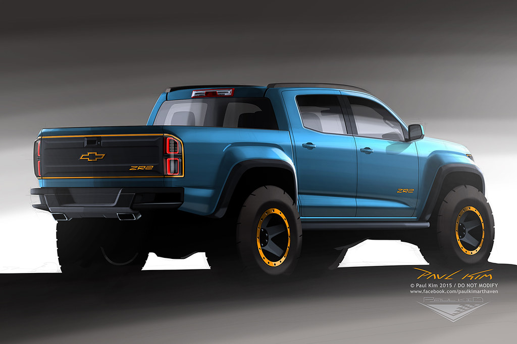 Chevrolet Colorado Zr2 Concept Design Rear Shot Shows The Flickr