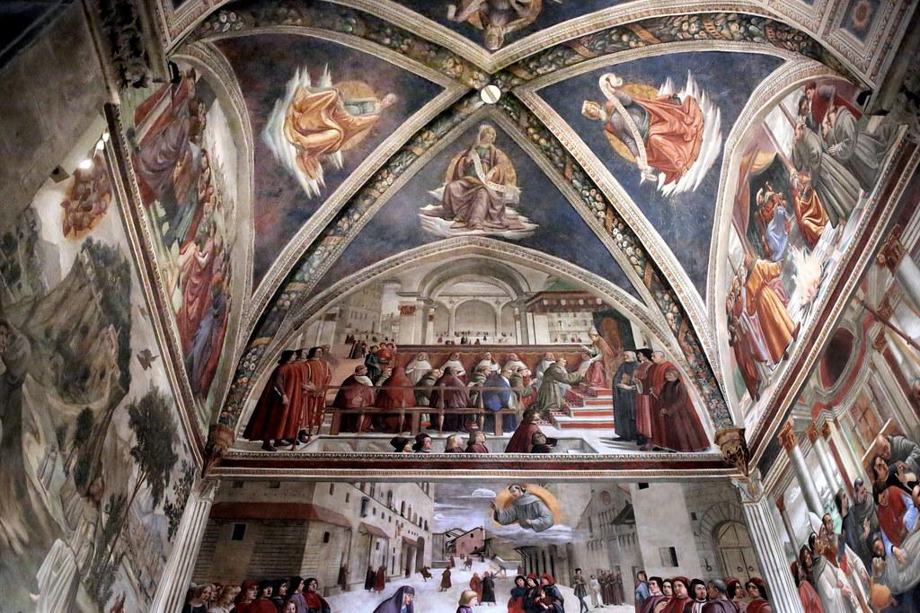 IMG_0190DC Florence. Santa Trinita. Cappella Sassetti. Chapelle Sassetti. Domenico Ghirlandaio (1449-1494