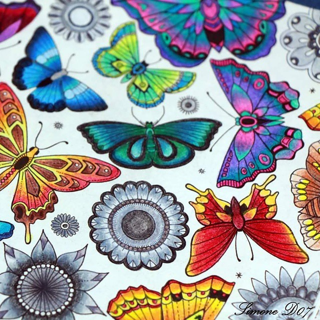 Secretgarden Coloring Jardimsecreto Coloringbook Mondeluz Koh I Noor
