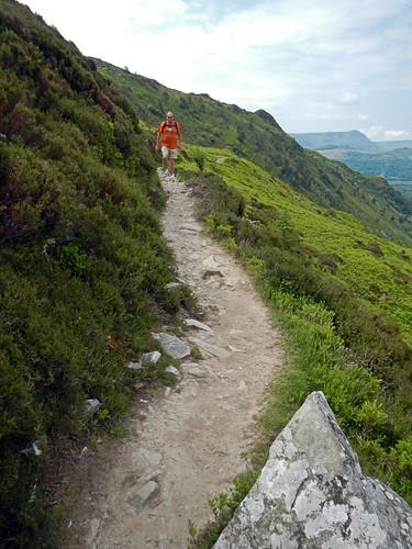 The trail along the Precipice Walk in Wales