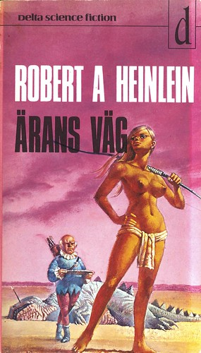 Robert A Heinlein, Ärans väg [Glory Road] (1974 - Delta Science Fiction [12], Sweden), cover by Bruce Pennington