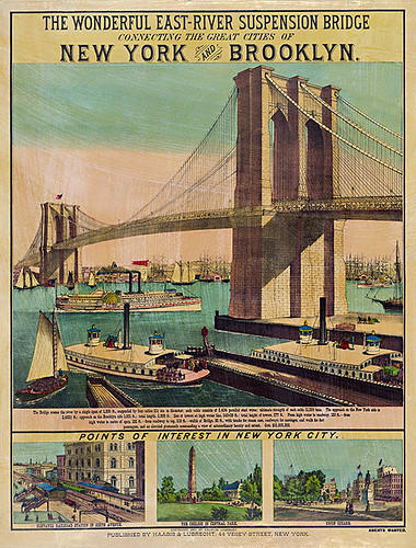 mn 27 vintage brooklyn bridge poster vintage prints posters flickr. Black Bedroom Furniture Sets. Home Design Ideas
