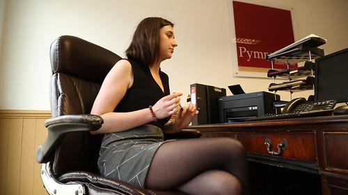Sexy Office Girl In Short Skirt  Still Taken From The -4178