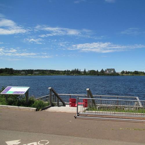 Dalvay-by-the-Sea from across the lake #pei #dalvay #peinationalpark #dalvaylake #dalvaybythesea #latergram
