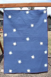 Star Cabin Quilt Front | by goosequilts