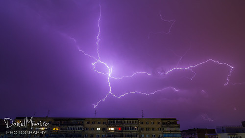 Thunderstorm in Bucharest by Daniel Mihai