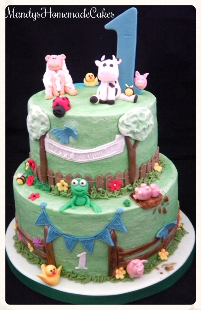 2 Tier Buttercream Finish Farm Themed Birthday Celebration Flickr