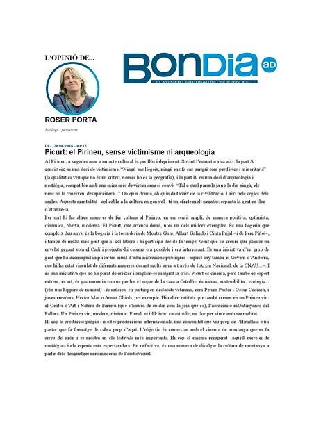 Roser Porta Bondia AD - Picurt 2016