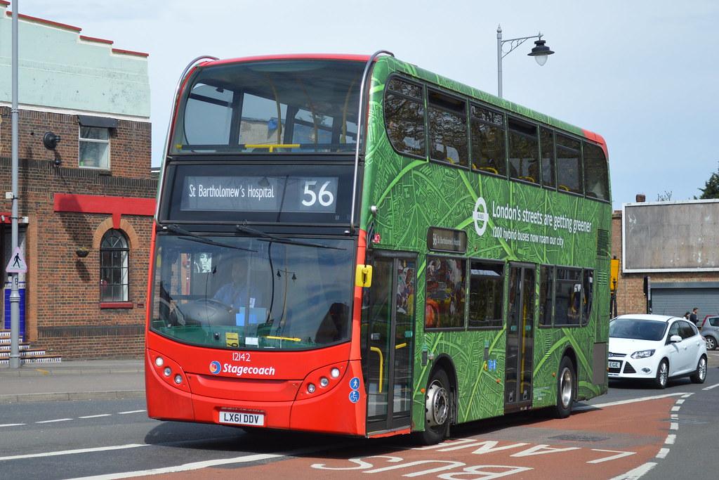 by hotspur_star LX61 DDV (12142), Stagecoach London, Alexander Dennis  Enviro400H. | by hotspur_star