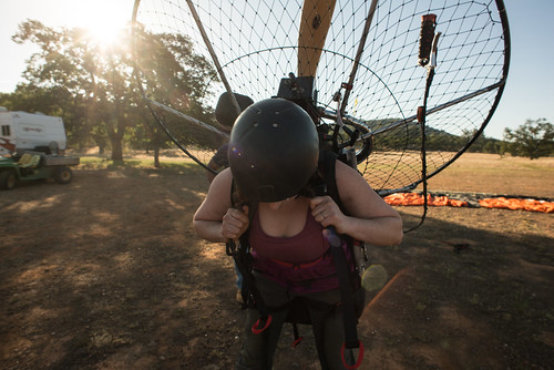 Tara Wearing BlackHawk 125 Paramotor | by goingslowly