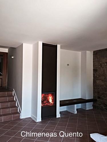 Chimenea quento modelo santelles con stuv 21 75 www - Chimeneas quento ...
