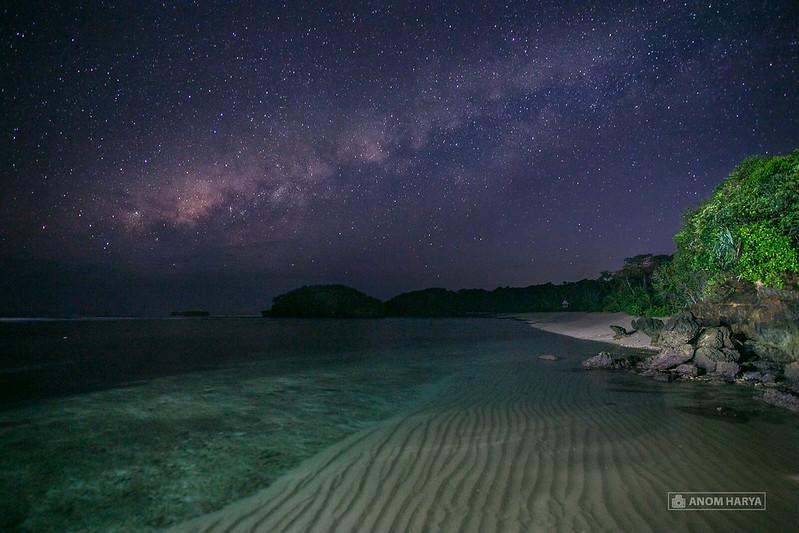 Milkyway dari Jembatan Pulau Balekambang