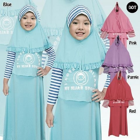 Baju Gamis Anak Bahan Kaos Spandek Combinasi Jersey Ukuran Flickr