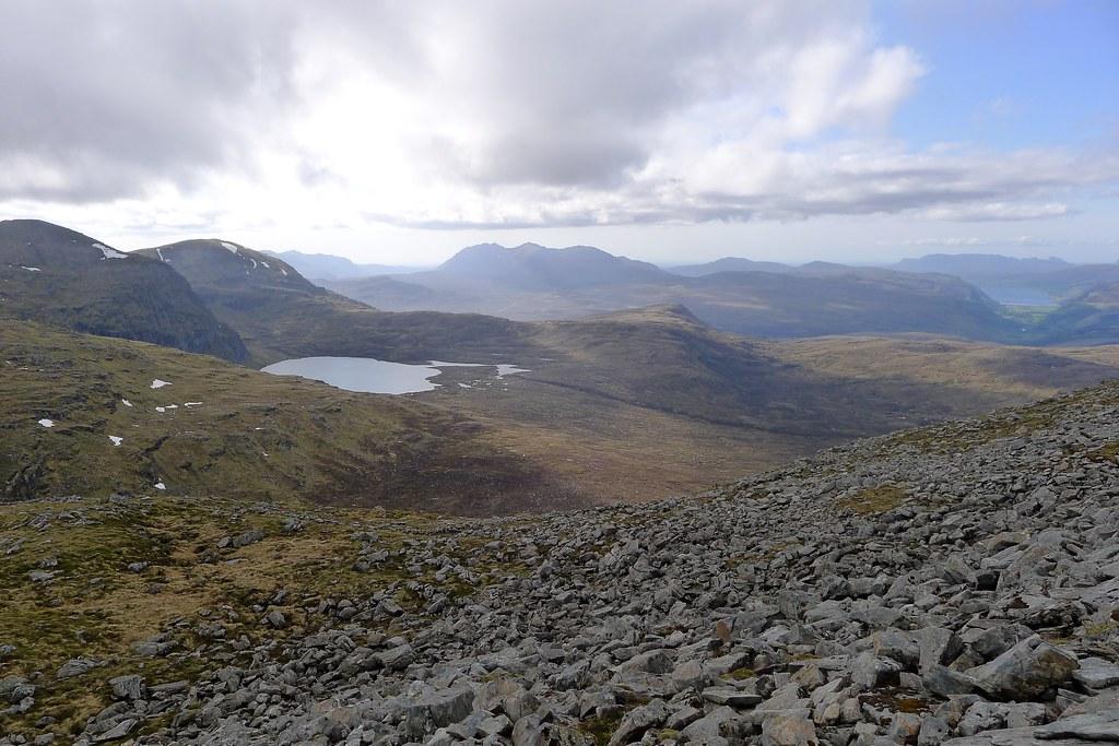 West from Beinn Liath Mhor Fannaich