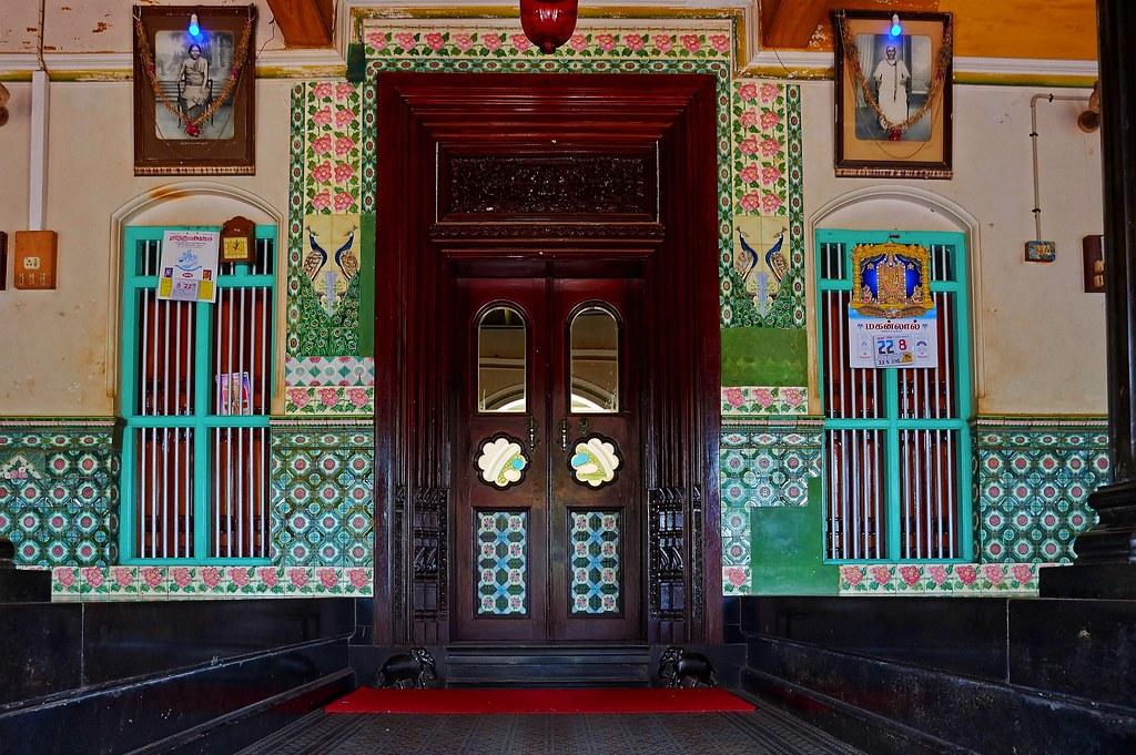 Entrance door athangudi palace chettinad karaikudi flickr rk entrance door athangudi palace chettinad karaikudi by lakshmi rk planetlyrics Image collections