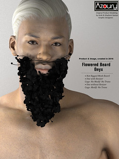 Men Only Montly : Flowered Beard | by AZOURY France