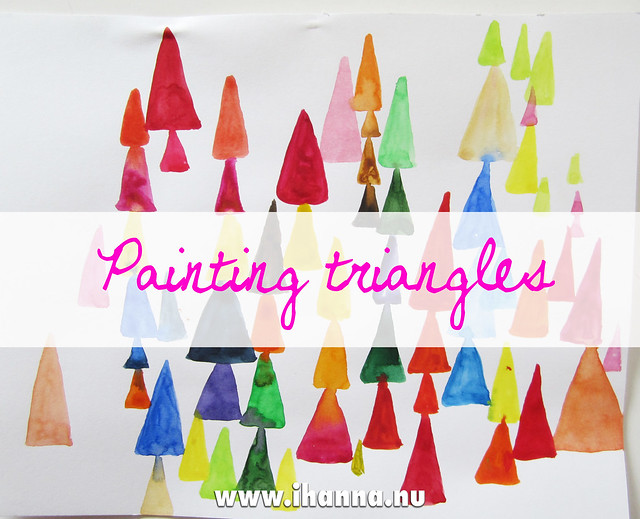 Painting triangles - or are they pyramids painted by iHanna