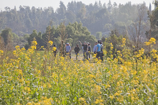 Hikers and flowers | by SaveCoyoteHills