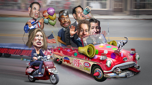 2016 Republican Clown Car Parade | by DonkeyHotey