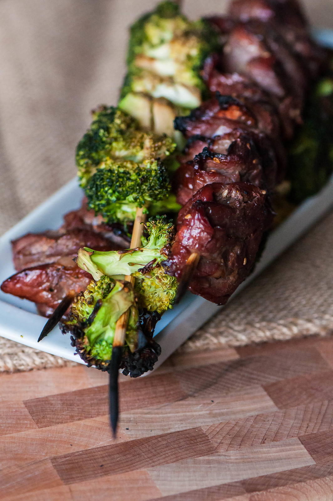 Grilled Beef and Broccoli Skewers 8