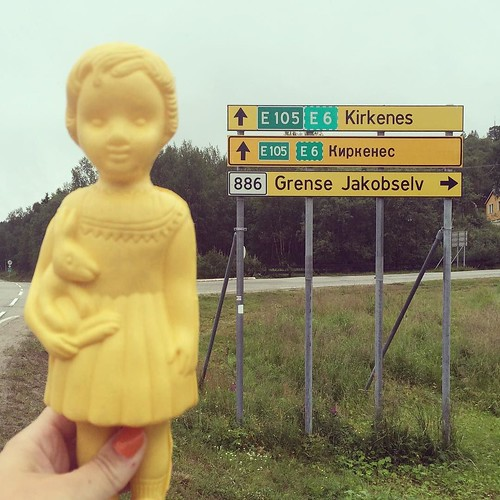 Zadie by the border between Norway and Russia. #Clonette #AdaZadieAndCo
